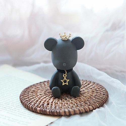 블랙 골드별 목걸이 곰돌이 석고방향제