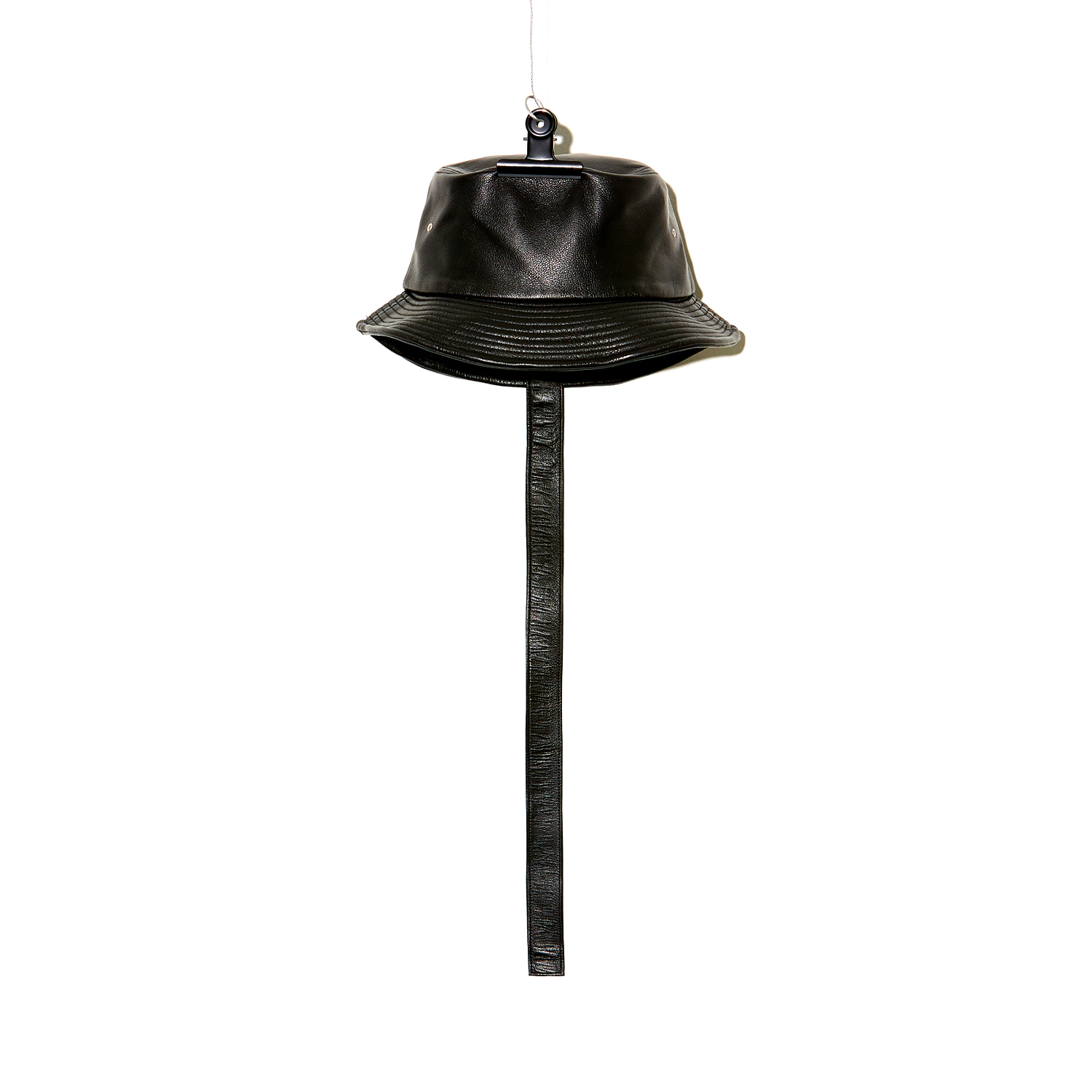 PMO LEATHER BUCKET HAT #1