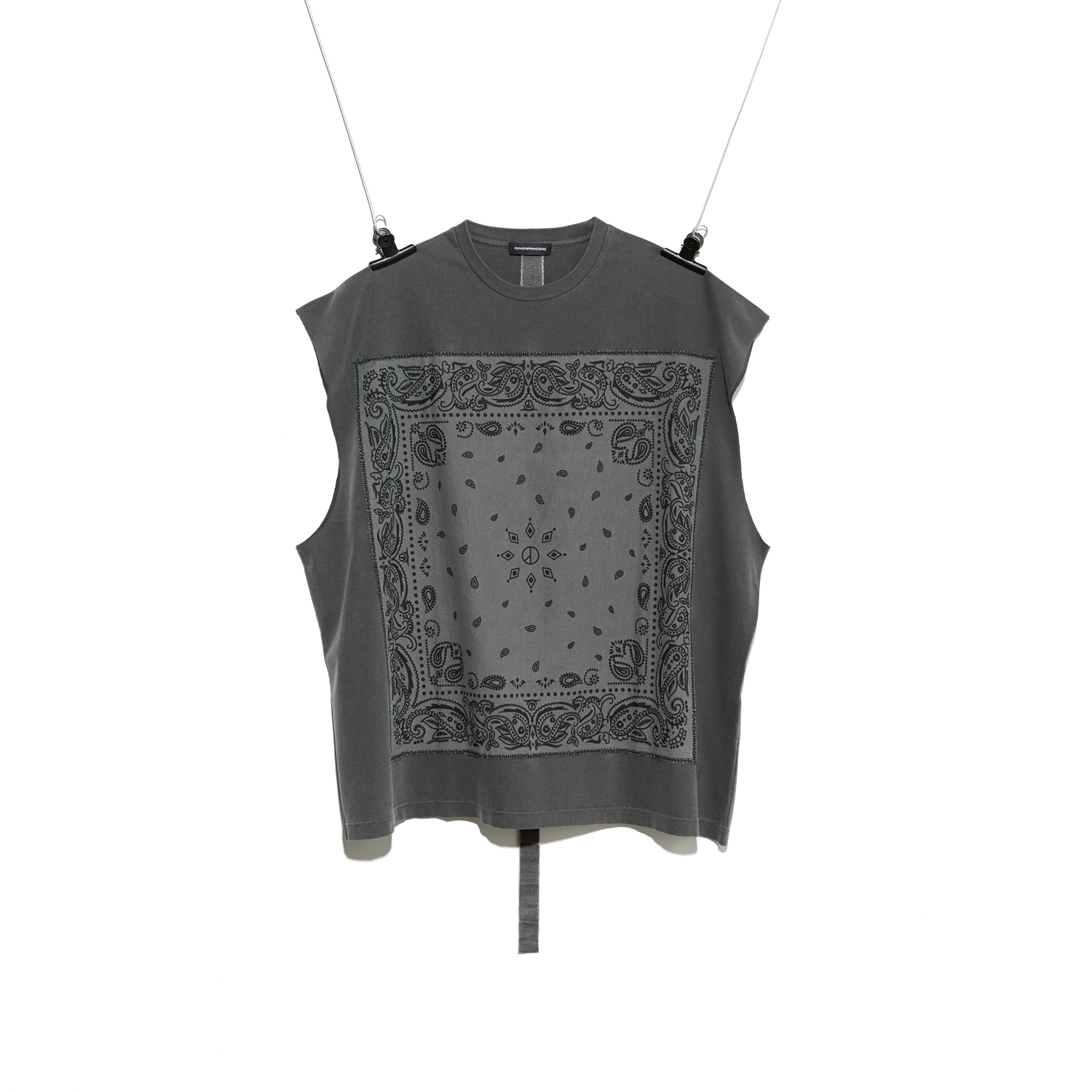 PMO BANDANA SLEEVELESS #1 CHARCOAL