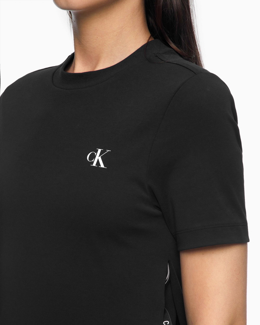 캘빈클라인 진(CALVIN KLEIN JEANS) [CK] 여 J215974 BEH 블랙 레이어드 사이드 슬릿 드레스