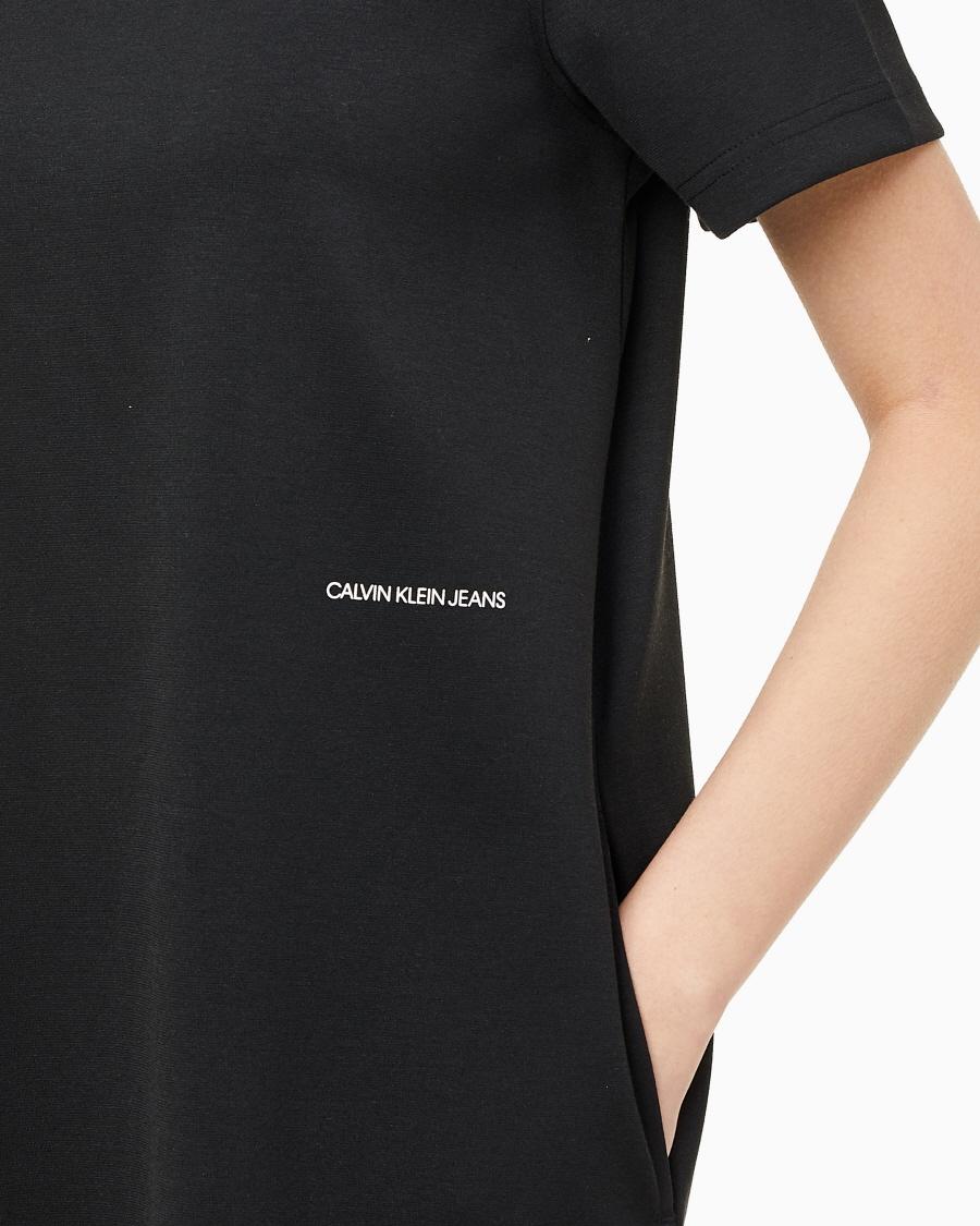 캘빈클라인 진(CALVIN KLEIN JEANS) [CK] 여 J216194 BEH 블랙 A 밀라노 티 드레스