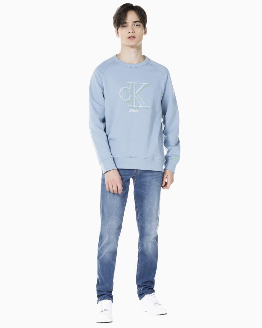 캘빈클라인 진(CALVIN KLEIN JEANS) 남 J318278 1A4 미드 블루 바디핏 데님