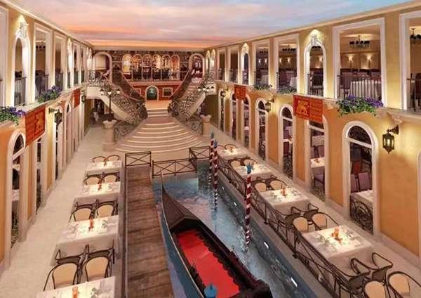 威尼斯號上的大運河餐廳(圖/澎湃新聞)