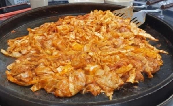 중산동 김치닭갈비 '오닭가닭 닭갈비'