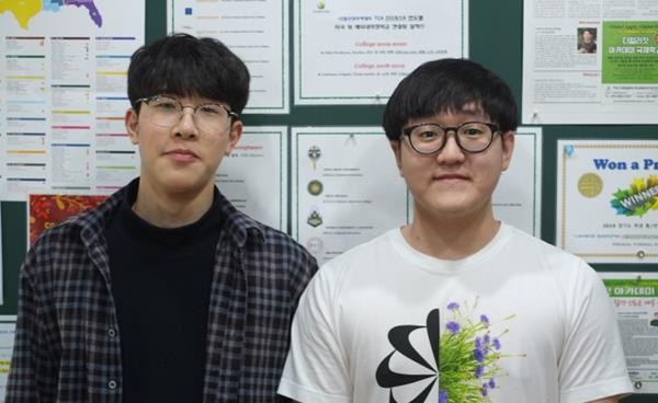 스토리메이킹 영상공모전 수상자 이시헌 박재민 학생