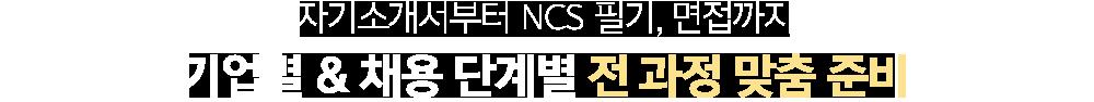 자기소개서부터 NCS 필기, 면접까지 기업별 & 채용 단계별 전 과정 맞춤 준비