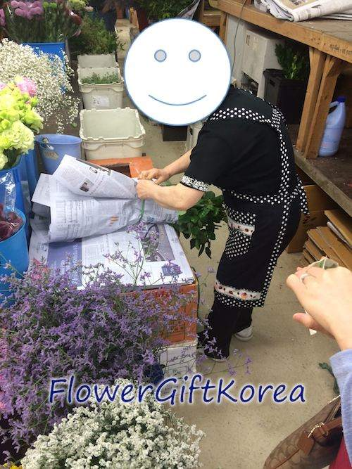 Flower Gift Korea at the Seoul Flower Market located in Gangnam Seoul Korea