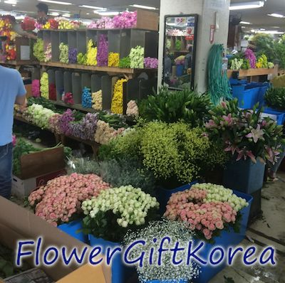 flower gift korea at the Korean flower market