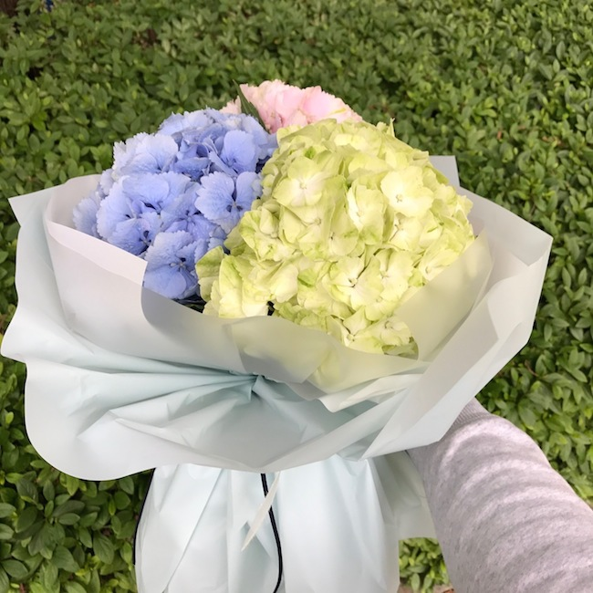 Hydrangea Bouquet in Korea as a proposal