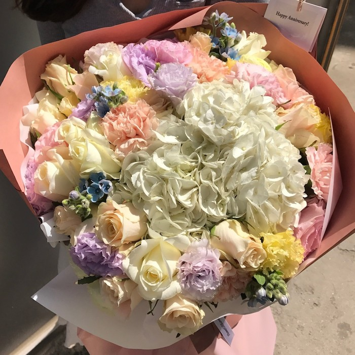 Pastel Bouquet Proposal Korea