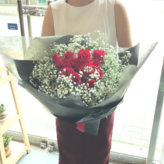 Babys Breath Roses Korea