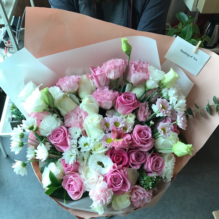 Pink Bouquet Wedding Proposal