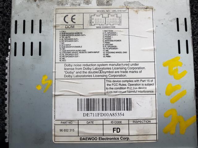 지파츠 자동차 중고부품 96652315 AV시스템,오디오