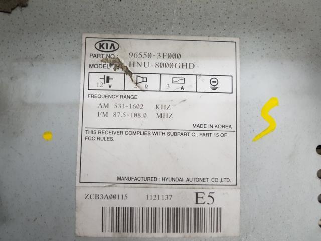 지파츠 자동차 중고부품 965503F000 AV시스템,오디오