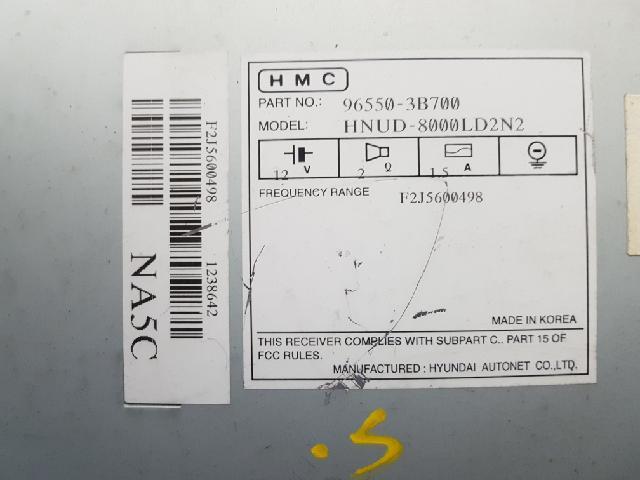 지파츠 자동차 중고부품 965503B700 AV시스템,오디오