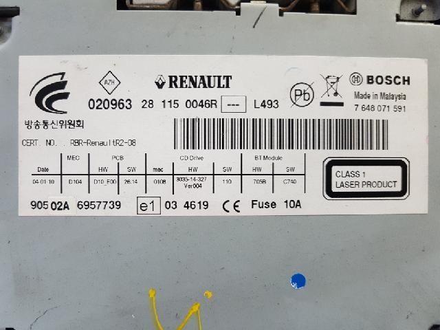 지파츠 자동차 중고부품 281150046R AV시스템,오디오