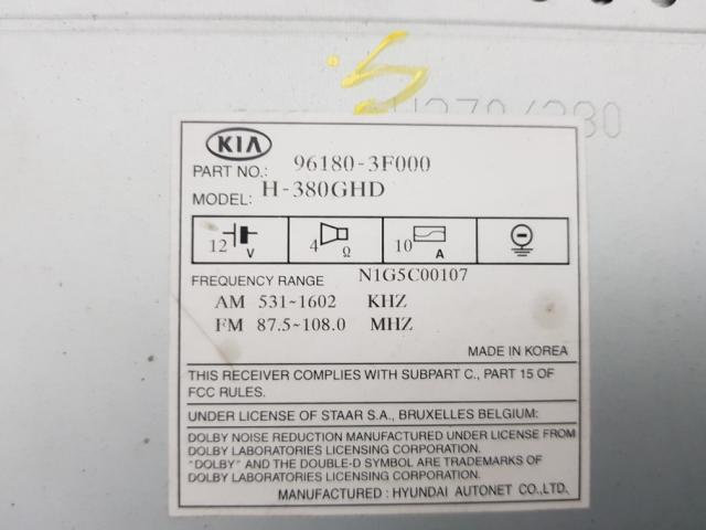지파츠 자동차 중고부품 961803F000 AV시스템,오디오