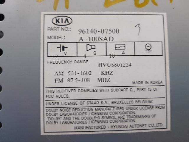 지파츠 자동차 중고부품 9614007500 AV시스템,오디오