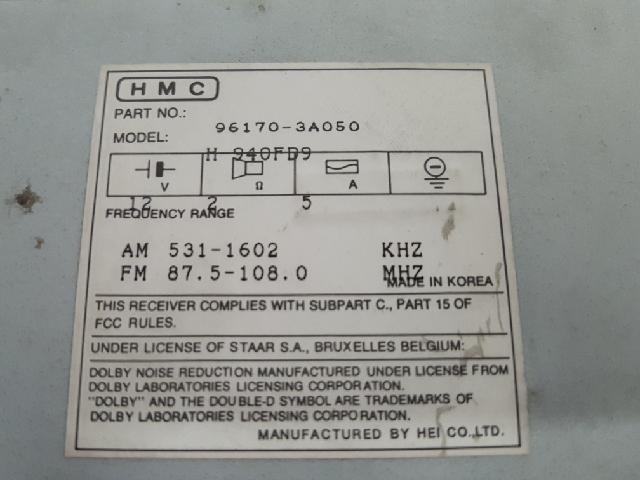 지파츠 자동차 중고부품 961703A050 AV시스템,오디오