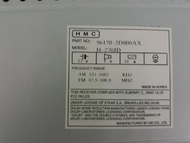 지파츠 자동차 중고부품 961702D000AX AV시스템,오디오