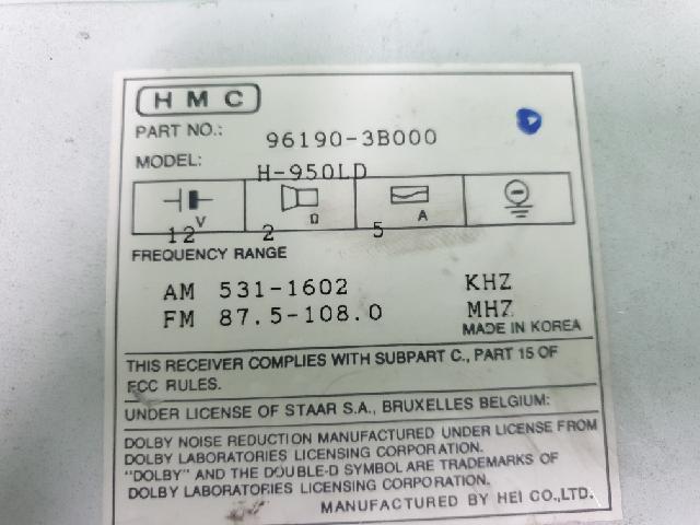 지파츠 자동차 중고부품 961903B000 AV시스템,오디오
