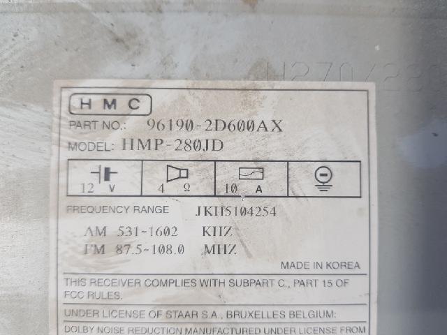 지파츠 자동차 중고부품 96190-2D600 AV시스템,오디오