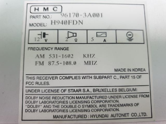 지파츠 자동차 중고부품 961703A001 AV시스템,오디오