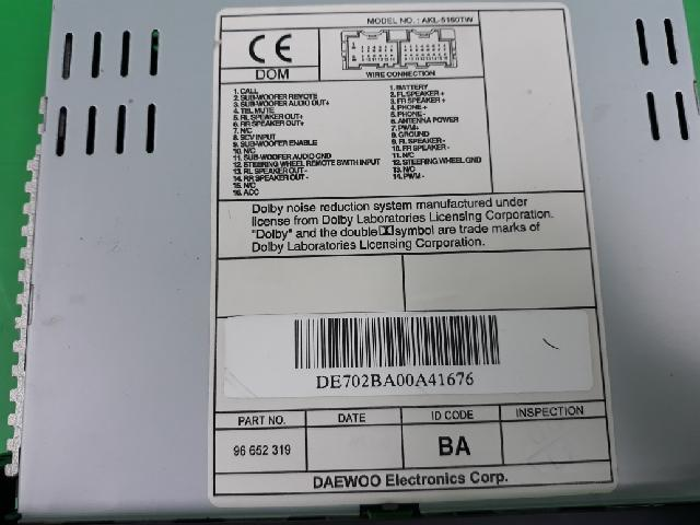 지파츠 자동차 중고부품 96652319 AV시스템,오디오