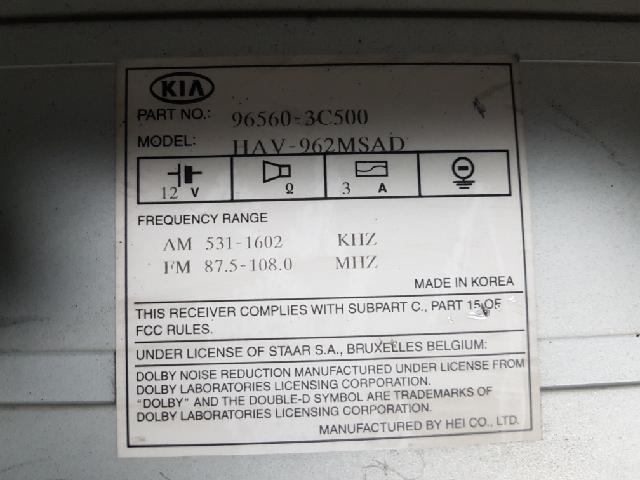 지파츠 자동차 중고부품 965603C500 AV시스템,오디오