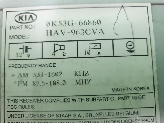 지파츠 자동차 중고부품 0K53G66860 AV시스템,오디오