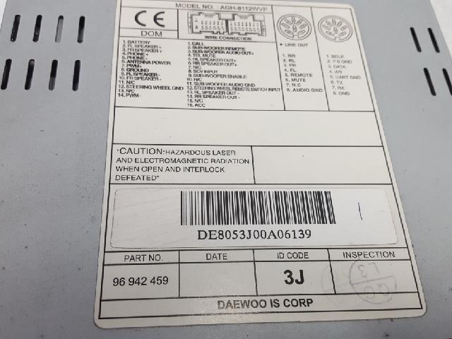 지파츠 자동차 중고부품 96942459 AV시스템,오디오