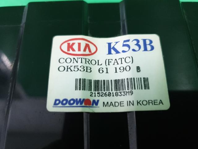 지파츠 자동차 중고부품 0K53B61190B 히터에어컨컨트롤스위치