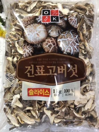 (박스 세일 특가) 말린 표고버섯 슬라이스 1박스 [1kg*10개=10kg] / 업소 및 가정용