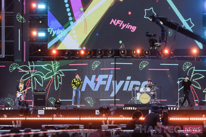 N.Flying giving an amazing performance on stage of 'The 25th 2019 Dream Concert' held in Seoul Sangam World Cup Stadium on May 18th. (Photo Credit=Hanteo News)