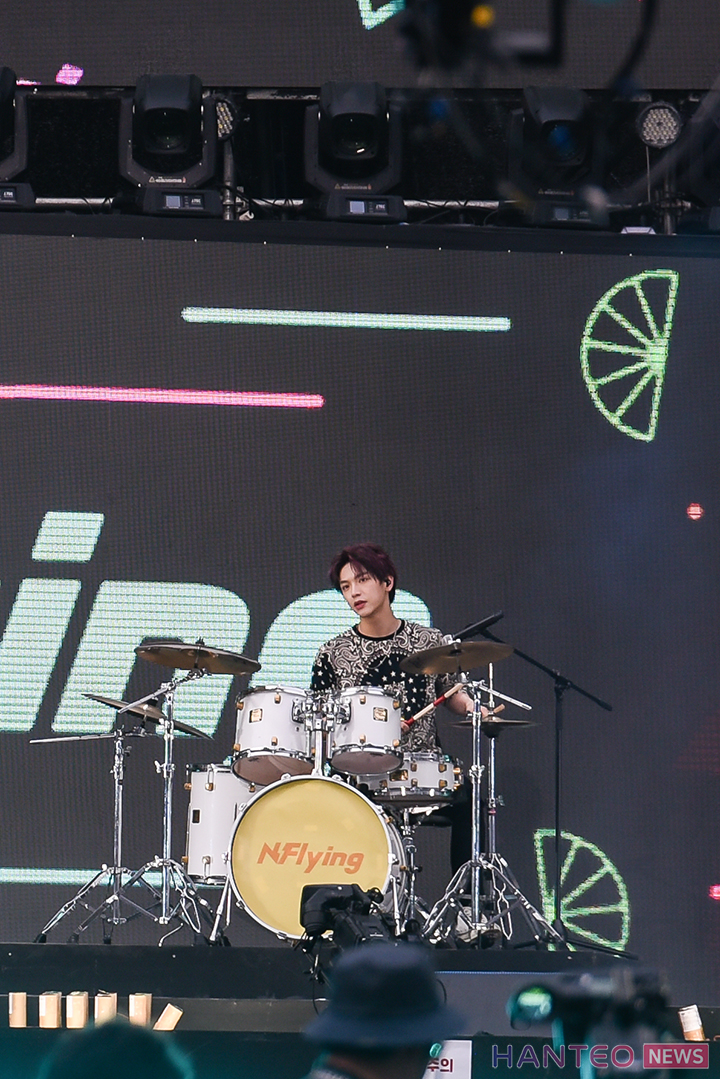 Kim Jaehyun of N.Flying giving an amazing performance on stage of 'The 25th 2019 Dream Concert' held in Seoul Sangam World Cup Stadium on May 18th. (Photo Credit=Hanteo News)