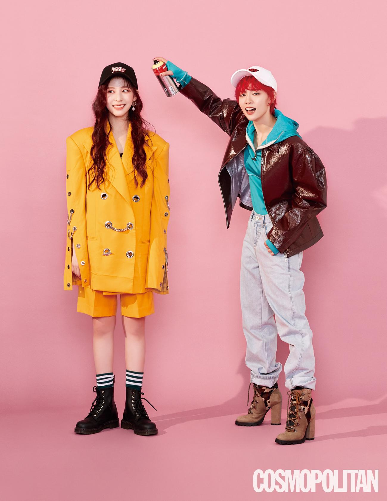 Minju and Miya of GWSN (Photo Credit=Cosmopolitan)