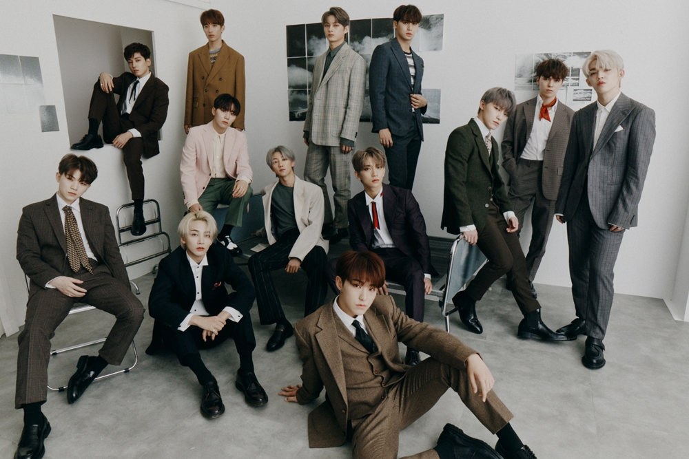 Group SEVENTEEN, who placed 1st in Hanteo Chart's Monthly Physical Album Chart of September (Photo Credit=Pledis Entertainment)