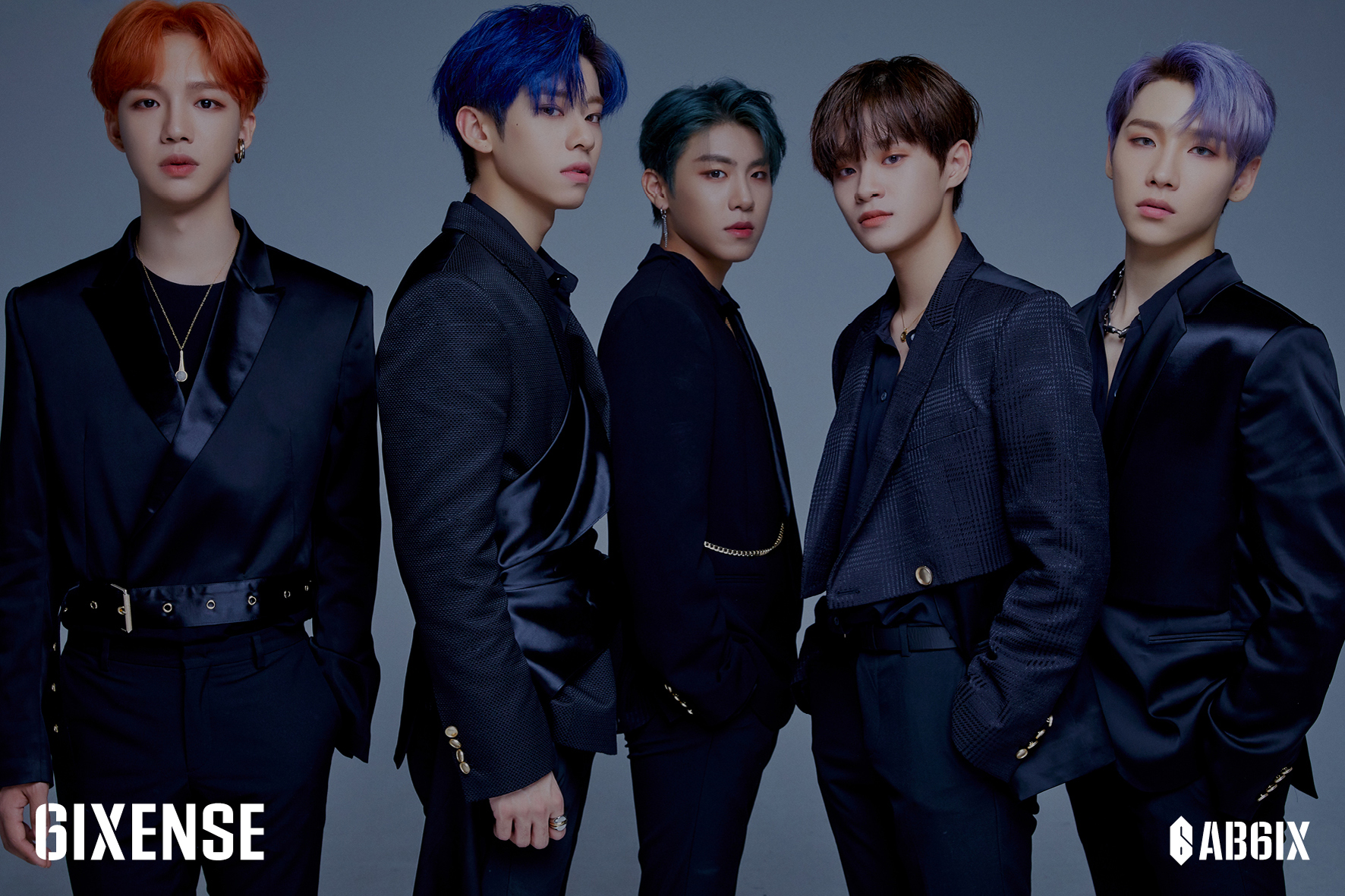 Group AB6IX who came back with the new album, '6IXENSE,' on October 7th (Photo Credit=Brand New Music)
