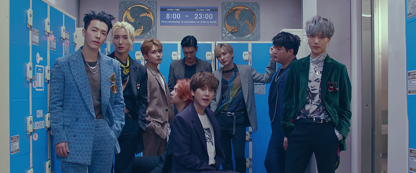 Super Junior, who took 1st place in Hanteo Chart's Daily Ranking of October 15th (Photo=Screen capture of Super Junior's 'I Think I' official music video)