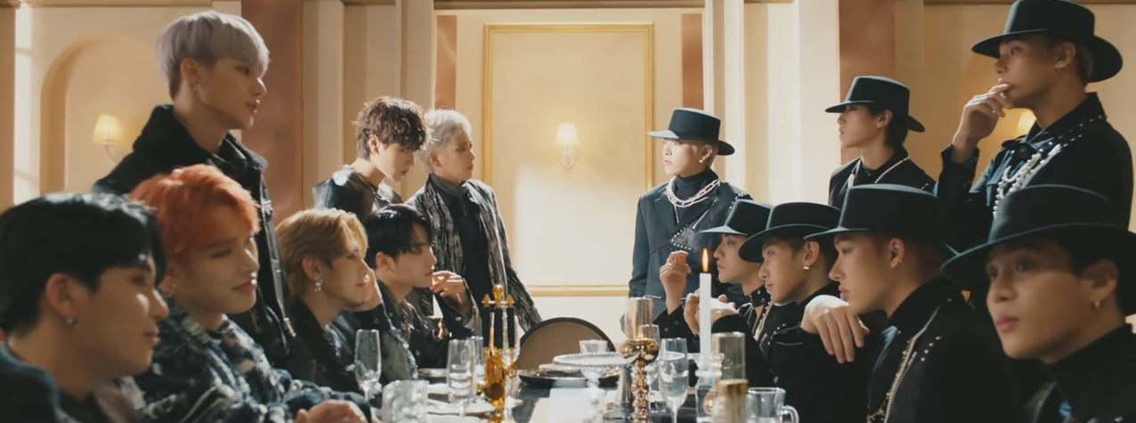 Group ATEEZ (Photo=Screen capture of ATEEZ's title track 'Answer' official music video)