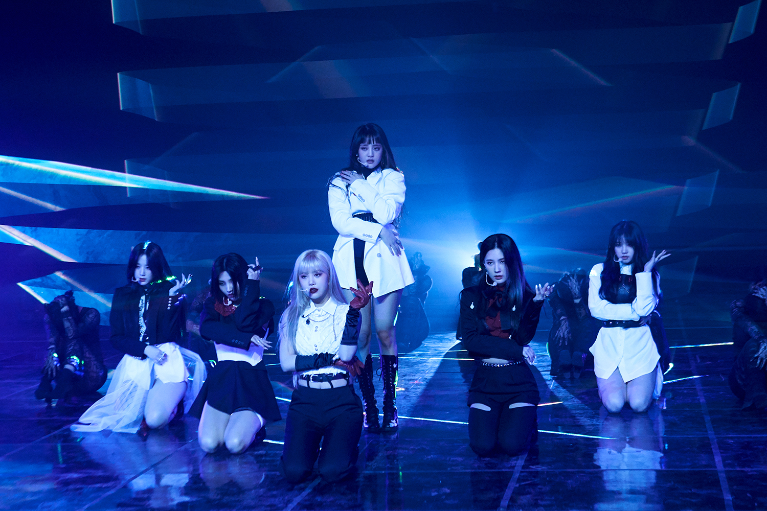 Group (G)I-DLE on the media showcase stage (Photo Credit=Cube Entertainment)