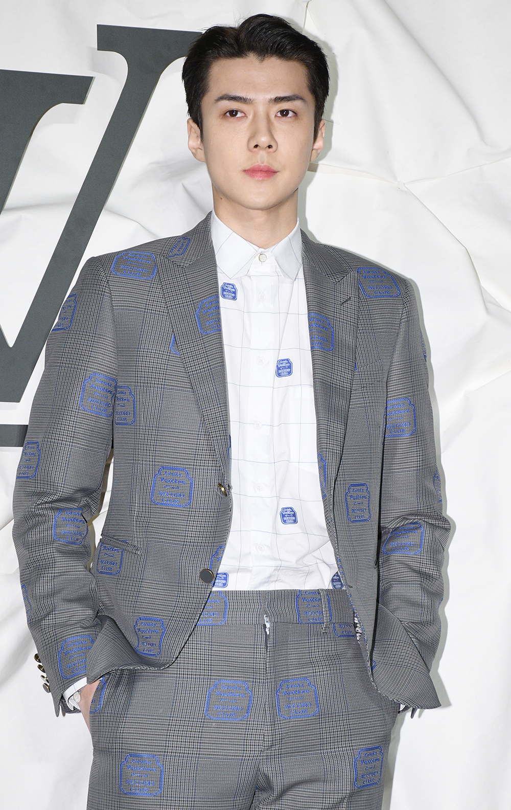 Sehun of EXO participating in Luis Vitton open photo wall event held at Luis Vitton Maison Seoul at Apgujeong-ro, Gangnam-gu, Seoul, on October 30th, 2019 (Photo Credit=Getty Image Korea)