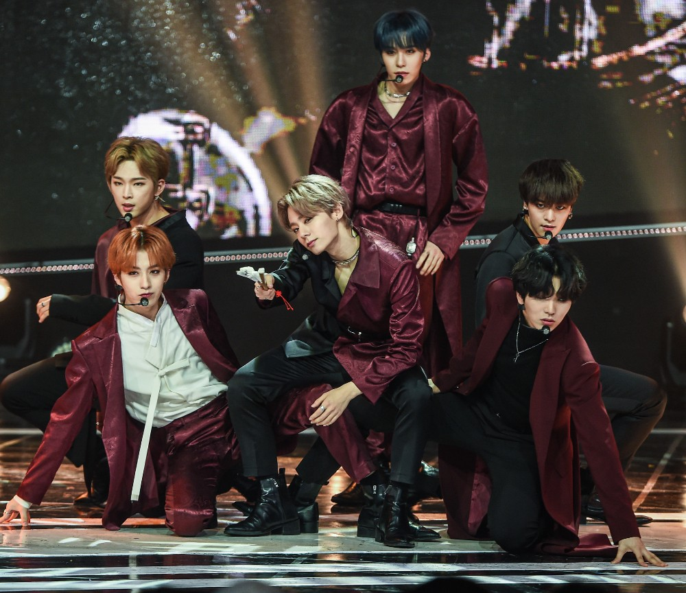 ONEUS Hwanwoong performing a marvelous stage during the live broadcast of MBC Music Show Champion held at MBC Dream Center in Illsandong-gu, Goyang-si, Gyeonggi-do, on October 23rd, 2019 (Photo Credit=Getty Image Korea)
