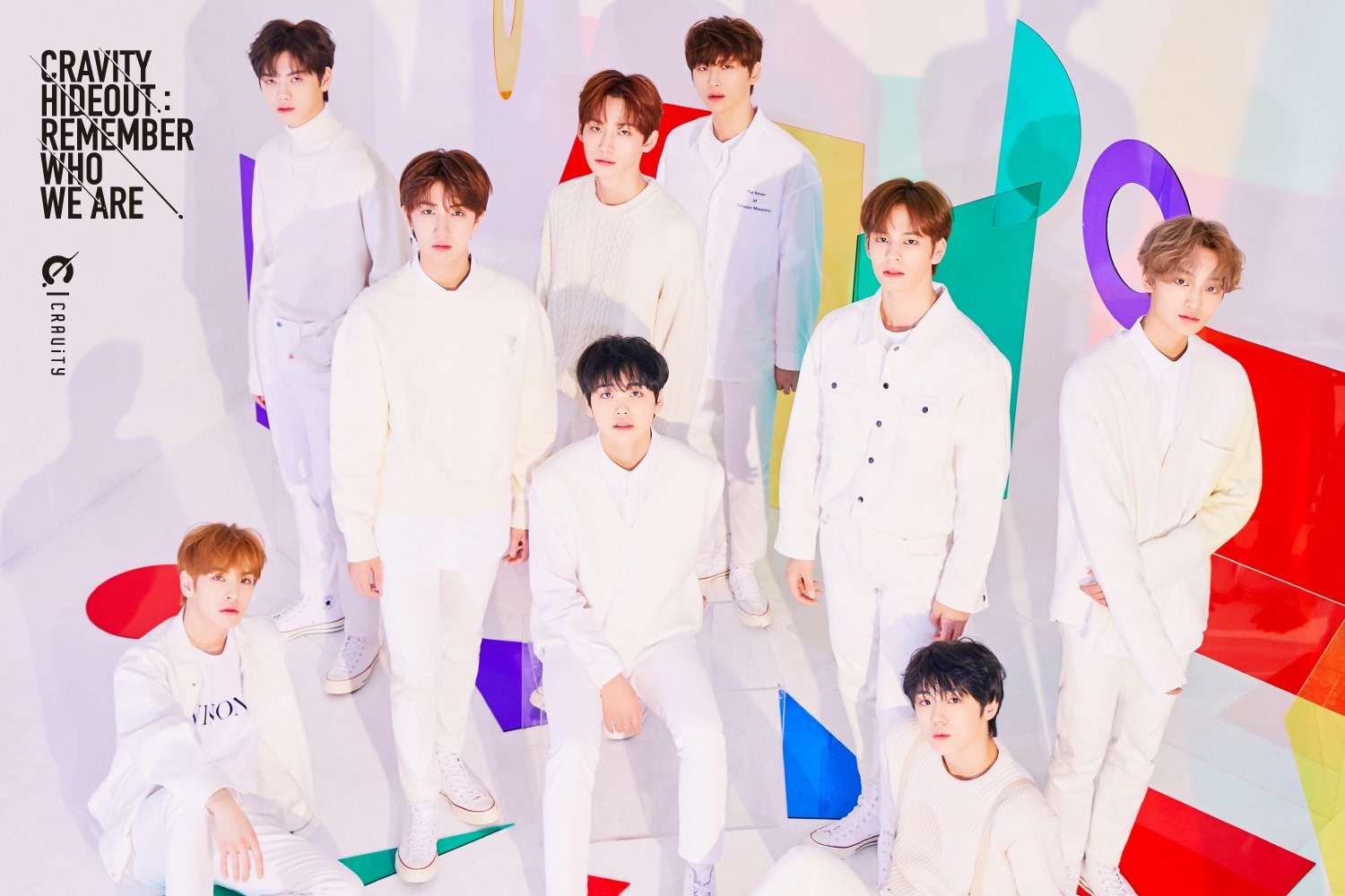 Group CRAVITY - SEASON 1, HIDEOUT : REMEMBER WHO WE ARE teaser image (Photo Credit=Starship Entertainment)