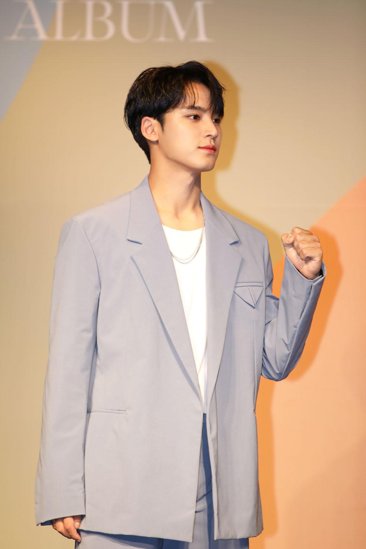 Member Mingyu of SEVENTEEN (Photo Credit=Sena Sim)