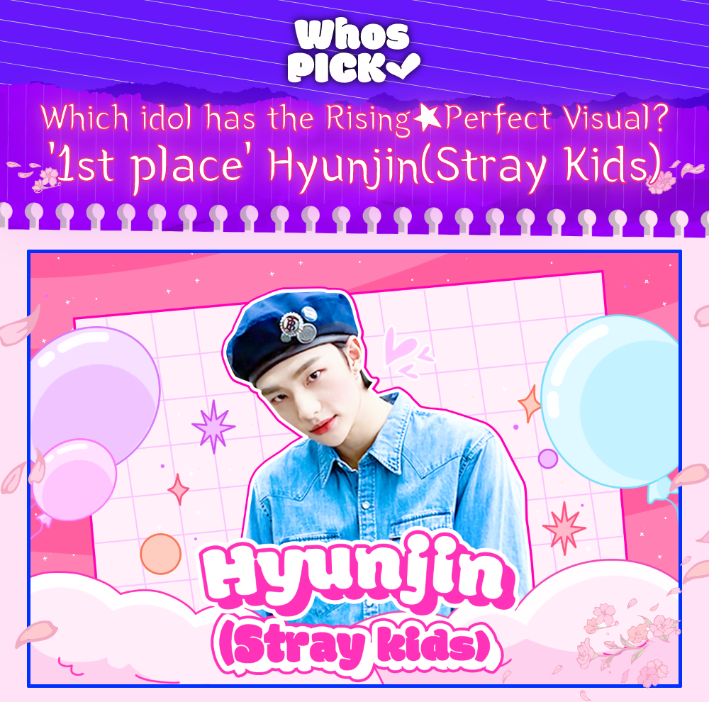 Hyunjin pop-up that can be found on the Whosfan app (Photo Credit=Whosfan)