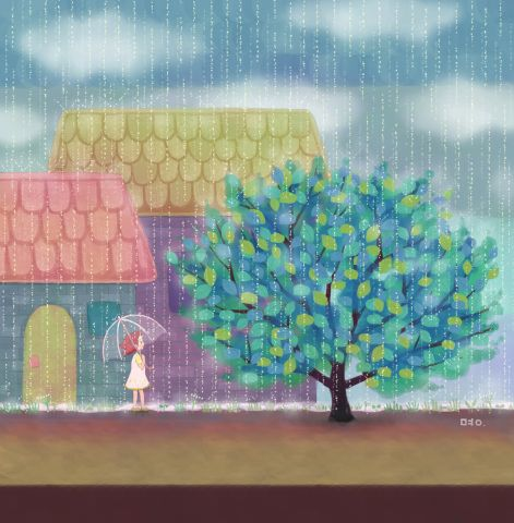 뒤뜰의 앵두나무