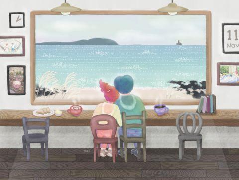 바다가 보이는 카페