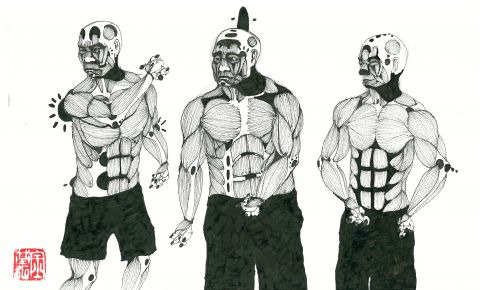 세명의 인물 연구