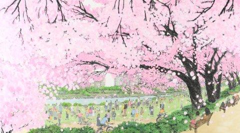 벚꽃풍경 by 정선미